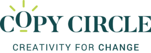 Copy-Circle-Logo-Green-With-Tag-Line-That-Reads-Creativity-For-Change